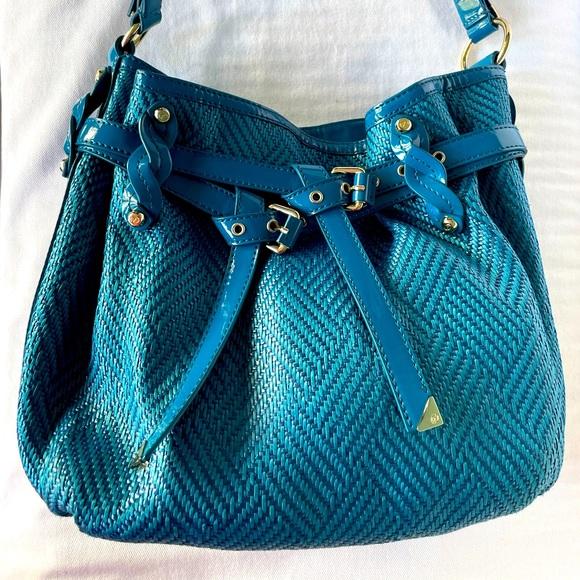 Bright blue Francesco Biasia large shoulder bag